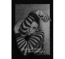 The Black Stripes Photographic Print