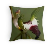 Detail - King Spider Orchid Throw Pillow