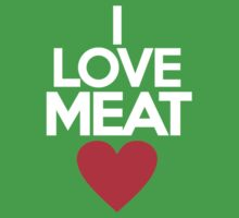 I love meat Kids Clothes