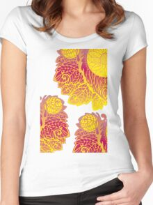 Gold Pattern Women's Fitted Scoop T-Shirt