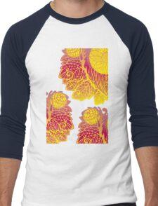 Gold Pattern Men's Baseball ¾ T-Shirt