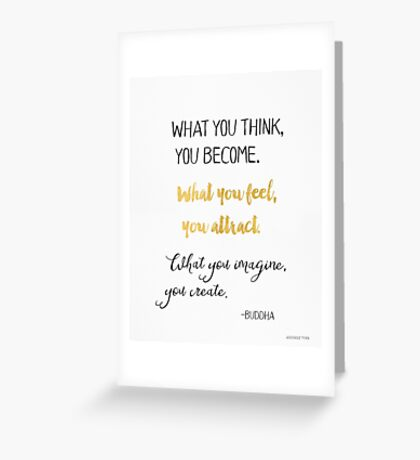 Gautama Buddha quote, gold Greeting Card