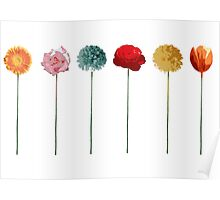 flowers, trend colors, spring 2015, collage, pop art Poster