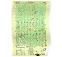 Maine USGS Historical Map Columbia Falls 806616 1953 25000 Poster