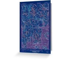 Maine USGS Historical Map Columbia Falls 807452 1921 62500 Inversion Greeting Card