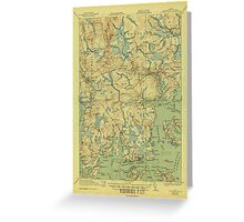 Maine USGS Historical Map Columbia Falls 807452 1921 62500 Greeting Card