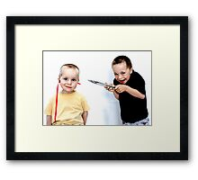 """This Won't Hurt A Bit..."" Framed Print"