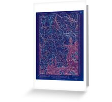 Maine USGS Historical Map Columbia Falls 807453 1921 62500 Inversion Greeting Card