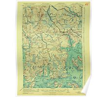 Maine USGS Historical Map Columbia Falls 807453 1921 62500 Poster