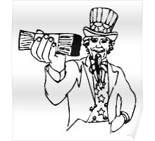 Uncle Sam With Money Poster