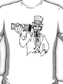 Uncle Sam With Money T-Shirt