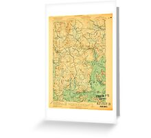 Maine USGS Historical Map Columbia Falls 807454 1921 62500 Greeting Card