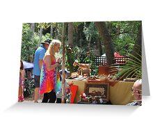 Craft Market in the Bush Greeting Card