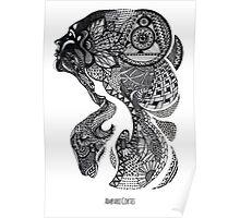 Zentangle woman Poster