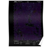Maine USGS Historical Map Columbia Falls 20110830 TM Inversion Poster