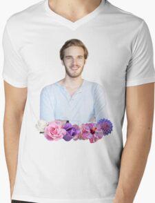 PEWDIEPIE - FLOWER BORDER Mens V-Neck T-Shirt