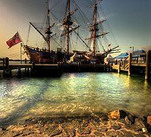captain cooks endeavour ship by Matthew Jones