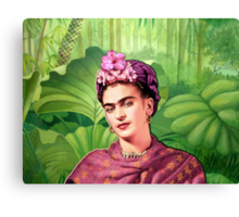 Frida Kahlo - Iconic Mexican Painter Canvas Print
