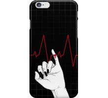 Red String of Fate (in black) iPhone Case/Skin