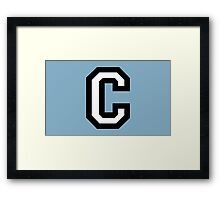Letter C two-color Framed Print