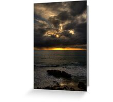Sunset on the West Coast Greeting Card
