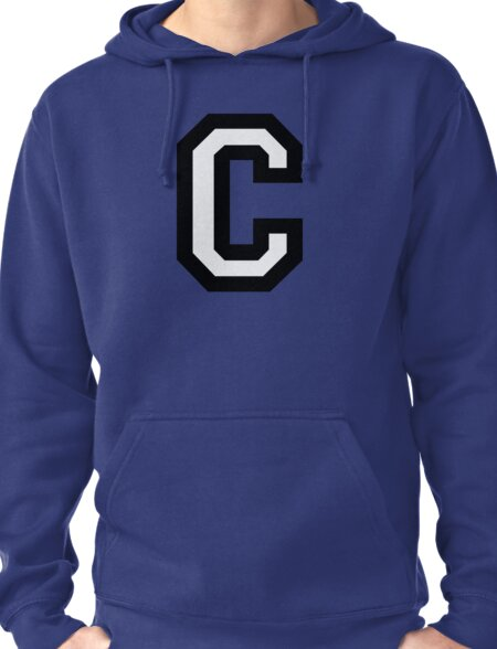 Letter C two-color Pullover Hoodie
