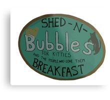 For Kitties and the people who love them BREAKFAST. Metal Print
