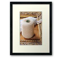 skein of wool and frame Framed Print