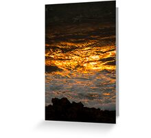 Tonight, The Sun Fell into The Sea.... Greeting Card