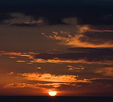 Sunset At Sea 01 by Chris Rollason