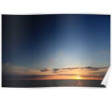 Sunset At Sea 02 Poster