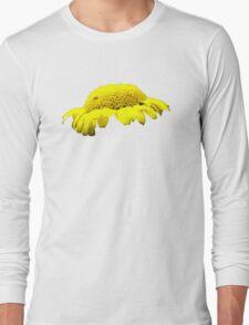 Yellow Button Flower Long Sleeve T-Shirt