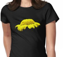 Yellow Button Flower Womens Fitted T-Shirt