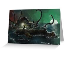Sea Monster Greeting Card