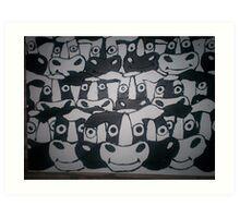 bitumen cows Art Print