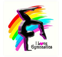 BEAUTIFUL RAINBOW GYMNASTICS DESIGN Art Print