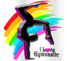 BEAUTIFUL RAINBOW GYMNASTICS DESIGN Poster