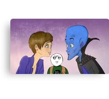 Megamind, Roxanne, and Hal Canvas Print
