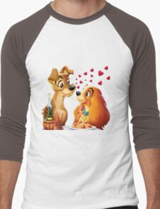 Lady and the Tramp Men's Baseball ¾ T-Shirt