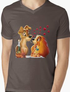 Lady and the Tramp Mens V-Neck T-Shirt