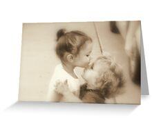 First Kiss Greeting Card