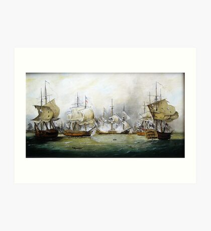 naval battle   Art Print
