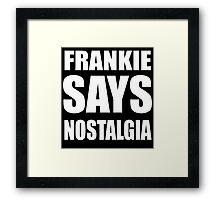Frankie in White Framed Print