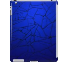 Blue Background - Worn Time Texture iPad Case/Skin