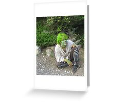 Little Green Guy Greeting Card