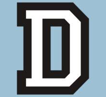 Letter D two-color T-Shirt