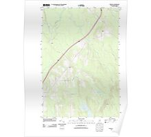 Maine USGS Historical Map Crystal 20110902 TM Poster