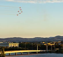 Roulettes over National Library Australia by glennsphotos