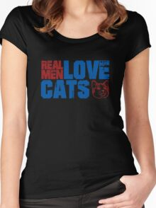 Real men love cats Women's Fitted Scoop T-Shirt