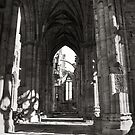 Melrose Abbey by miclile